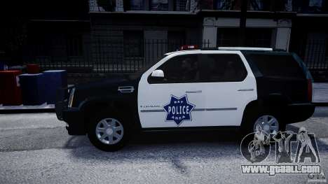 Cadillac Escalade Police V2.0 Final for GTA 4 left view
