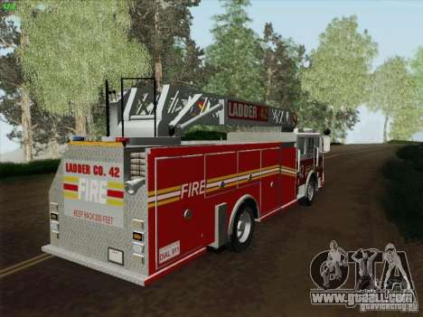 Seagrave Ladder 42 for GTA San Andreas left view