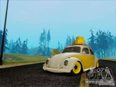 Volkswagen Beetle Edit for GTA San Andreas
