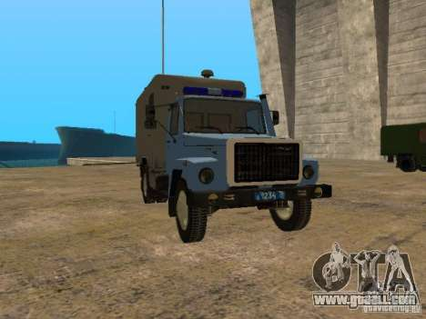 GAZ 3309 paddy wagon for GTA San Andreas left view