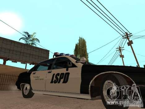 Chevrolet Caprice 1991 LSPD for GTA San Andreas back left view