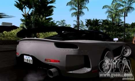 Mazda RX-7 for GTA San Andreas bottom view