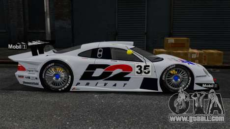 Mercedes-Benz CLK LM 1998 for GTA 4 left view