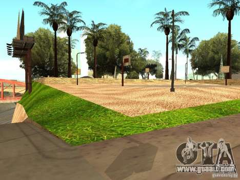 The new basketball court in Los Santos for GTA San Andreas