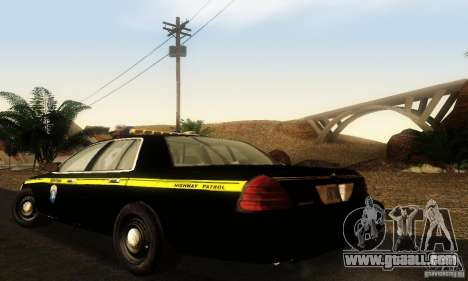 Ford Crown Victoria Montana Police for GTA San Andreas left view