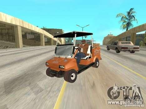 Golfcart caddy for GTA San Andreas back view