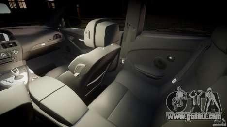 BMW M6 2010 v1.0 for GTA 4 inner view