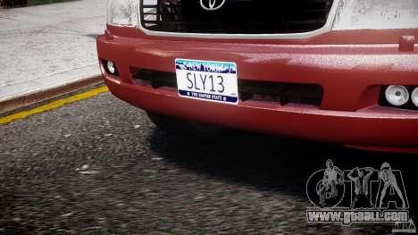 Toyota Land Cruiser 100 Stock for GTA 4 bottom view