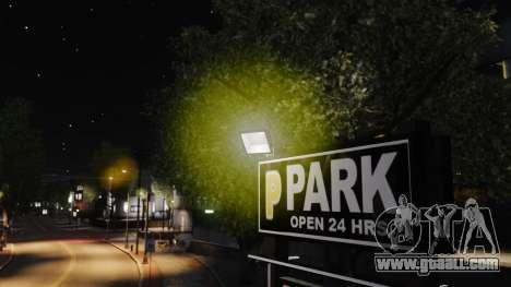 Yellow light lights for GTA 4 fifth screenshot