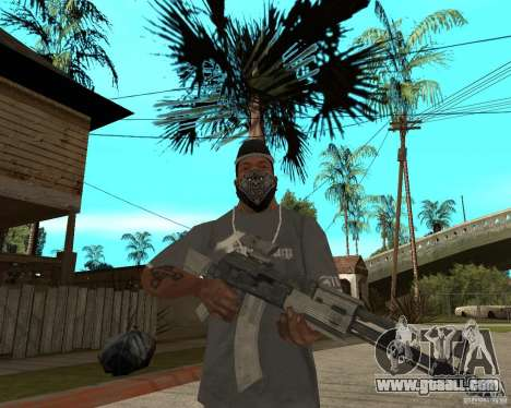 AK47 with the standard optical sight for GTA San Andreas