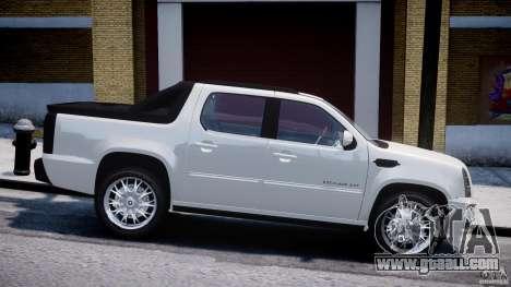 Cadillac Escalade Ext for GTA 4 left view