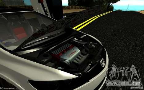 Honda Civic Type R for GTA San Andreas bottom view