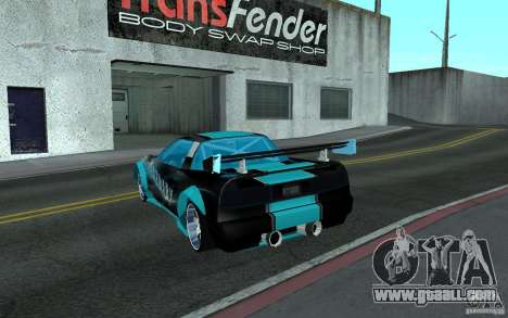 Baby blue Infernus for GTA San Andreas left view