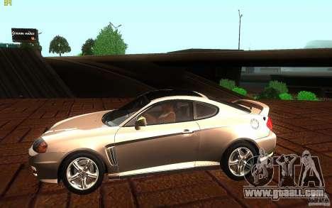 Hyundai Tiburon V6 Coupe 2003 for GTA San Andreas left view
