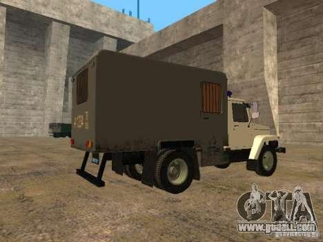 GAZ 3309 paddy wagon for GTA San Andreas back left view