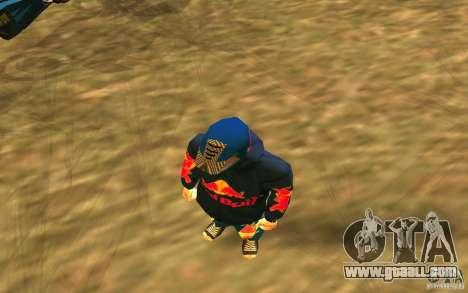 Red Bull Clothes v1.0 for GTA San Andreas third screenshot