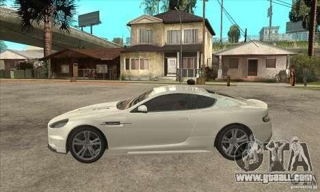 Aston Martin DBS for GTA San Andreas left view