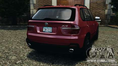 BMW X5 xDrive30i for GTA 4 back left view