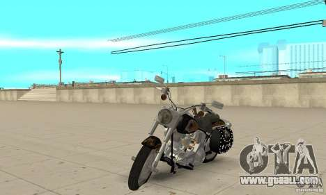 Harley Davidson FLSTF (Fat Boy) v2.0 Skin 5 for GTA San Andreas