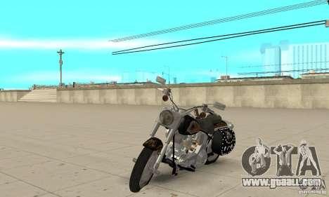 Harley Davidson FLSTF (Fat Boy) v2.0 Skin 5 for GTA San Andreas