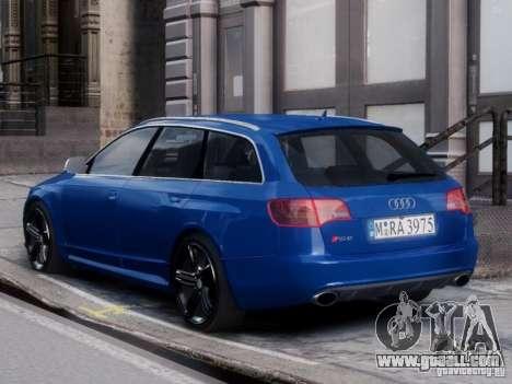 Audi RS6 Avant for GTA 4 left view