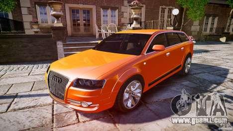 Audi A6 Allroad Quattro 2007 wheel 2 for GTA 4 interior