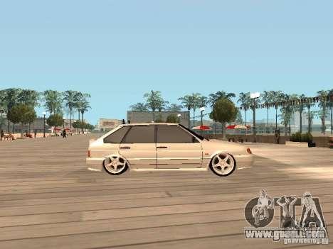 ВАЗ 2114 BEAST for GTA San Andreas left view