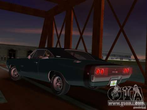 Dodge Charger 426 R/T 1968 v1.0 for GTA Vice City right view