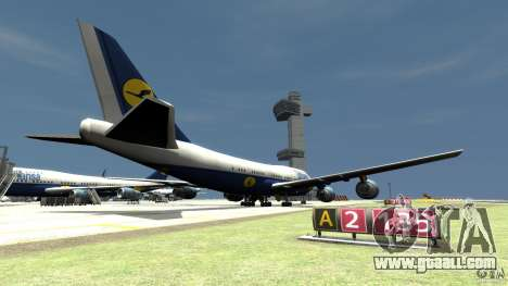 Lufthansa Airplanes for GTA 4 back left view