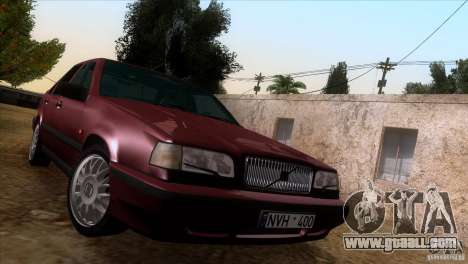 Volvo 850 Final Version for GTA San Andreas inner view
