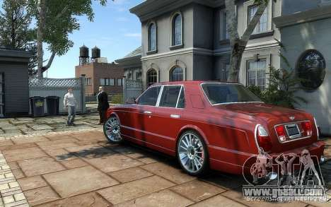 Bentley Arnage T for GTA 4 back left view