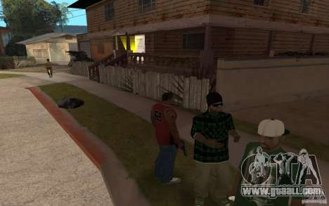 Grove Street Skin Pack for GTA San Andreas fifth screenshot