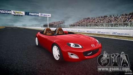 Mazda Miata MX5 Superlight 2009 for GTA 4 back view