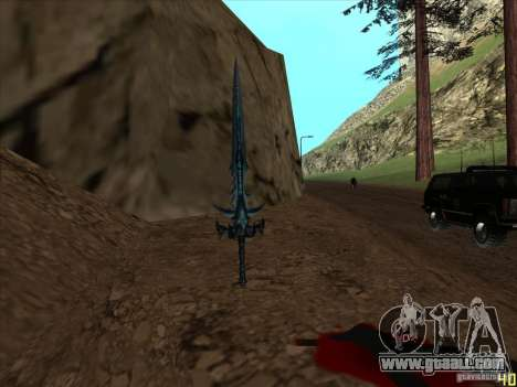 Frostmorn-sword from WoW Lich King for GTA San Andreas third screenshot