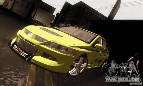 Mitsubishi Lancer Evolution 8 for GTA San Andreas back left view