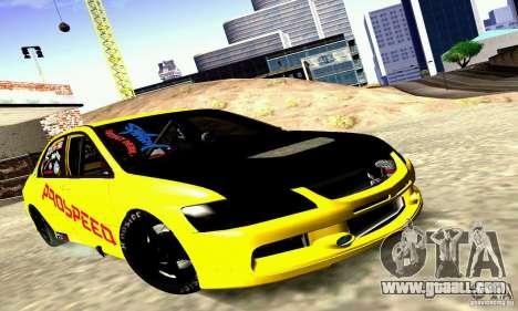 Mitsubishi Lancer Evolution VIII - ProSpeed for GTA San Andreas
