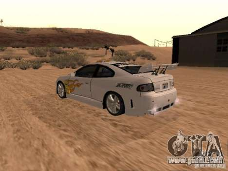 Vauxhall Monaro for GTA San Andreas engine