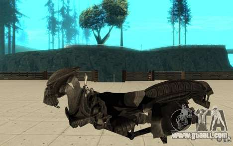 Bike predator for GTA San Andreas left view