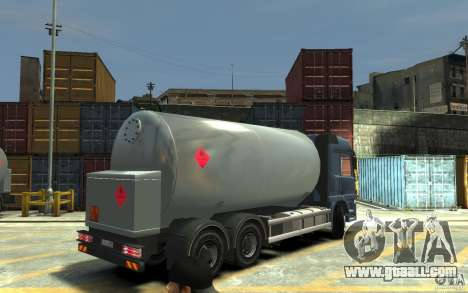 Mercedes Benz Actros Gas Tanker for GTA 4 right view
