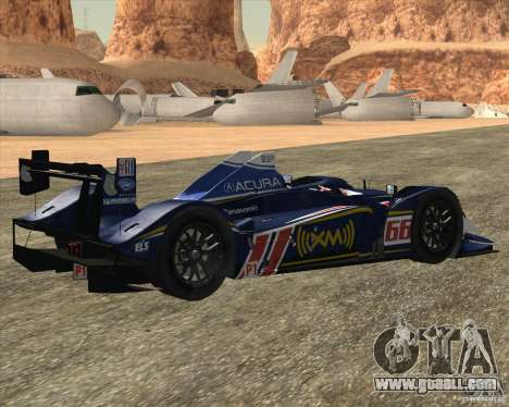 Acura ARX LMP1 for GTA San Andreas back left view