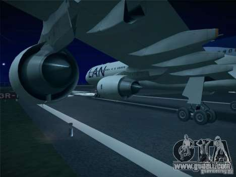 Airbus A340-600 LAN Airlines for GTA San Andreas right view