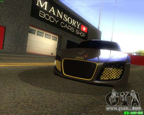 Audi R8 Mansory for GTA San Andreas left view