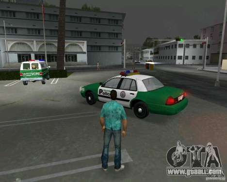 Ford Crown Victoria 2003 Police for GTA Vice City back left view