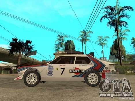 Lancia Delta S4 Martini Racing for GTA San Andreas left view