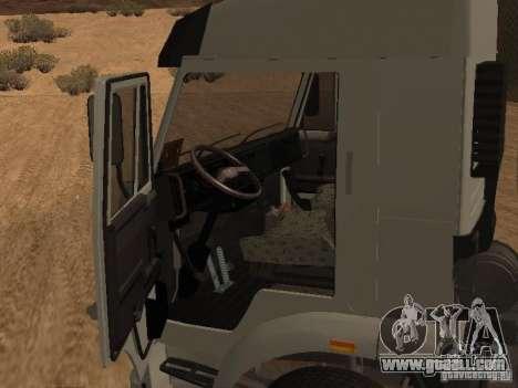 KAMAZ 6460 for GTA San Andreas inner view