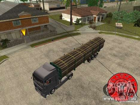The trailer KRONE timber carrier for GTA San Andreas back left view