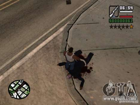 New pattern of blood for GTA San Andreas second screenshot