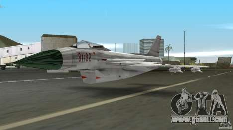 J-10 for GTA Vice City left view