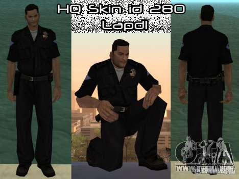 HQ skin lapd1 for GTA San Andreas