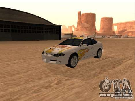 Vauxhall Monaro for GTA San Andreas bottom view